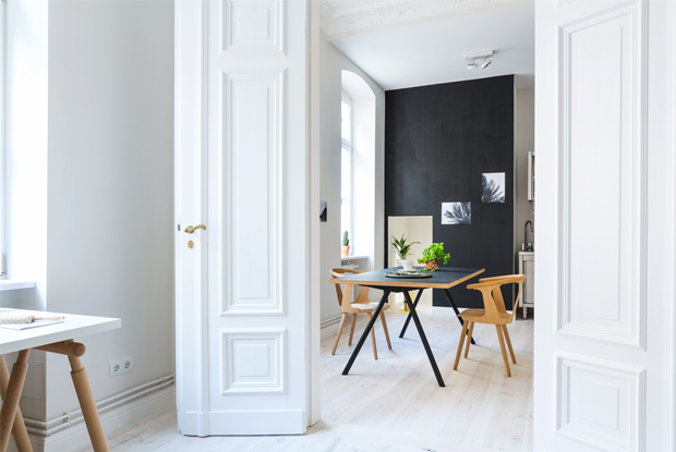 black interior wall
