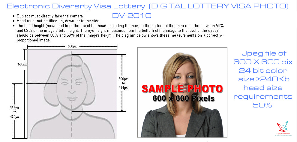 Create your photo for the DV 2014 Green Card Lottery.