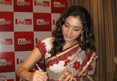Actress Tamanna in designer Saree Photos
