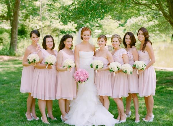 Brides Bridesmaids Fashion July 2015,Blush Pink Beach Wedding Dresses