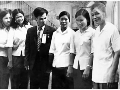 Đ/c Lê Văn Lương – Bí Thư Thành ủy Hà Nội với cán bộ, đoàn viên, thanh niên (năm 1980).