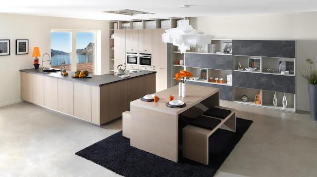 Cuisine moderne design de chez Schmidt. Cuisine avec idées décoration et îlot.