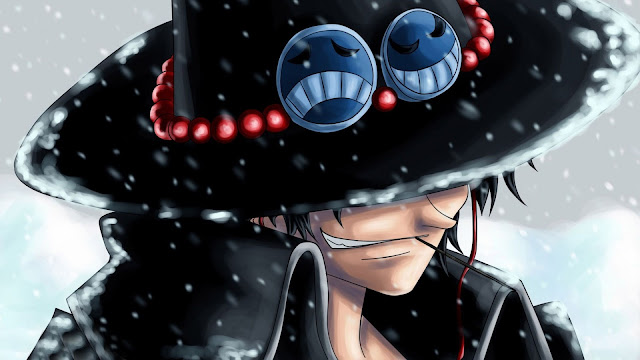 portgas d ace one piece smiling male snow hd wallpaper desktop pc background a90.