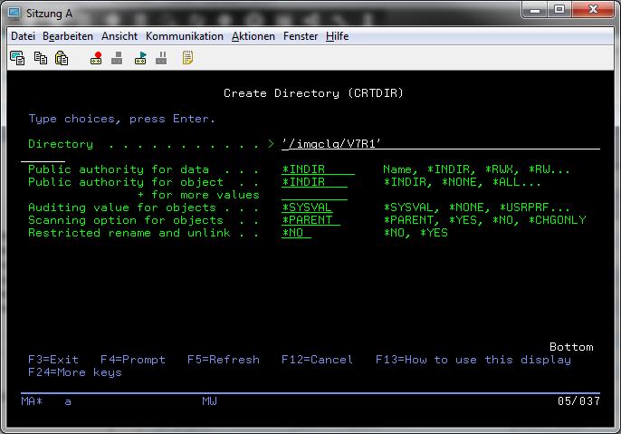 Create Directory IFS