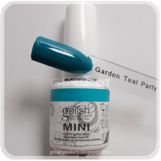 Gelish Swatch Garden Teal Party