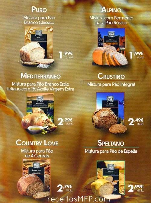 Variedades de Cápsulas da Máquina de Fazer Pão Easy Bread