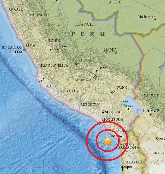 Magnitude 5.0 Earthquake of Ilo, Peru 2015-06-01
