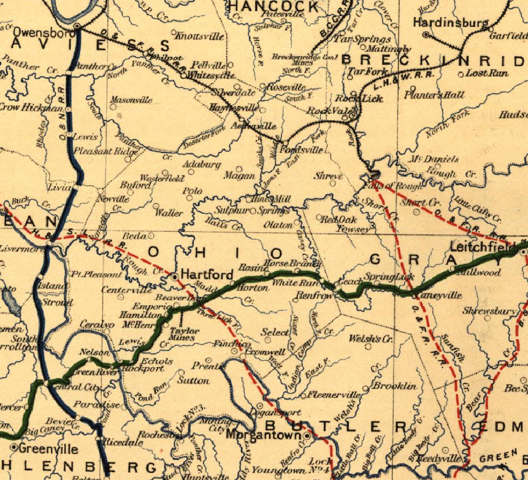 Maps of Ohio County, KY