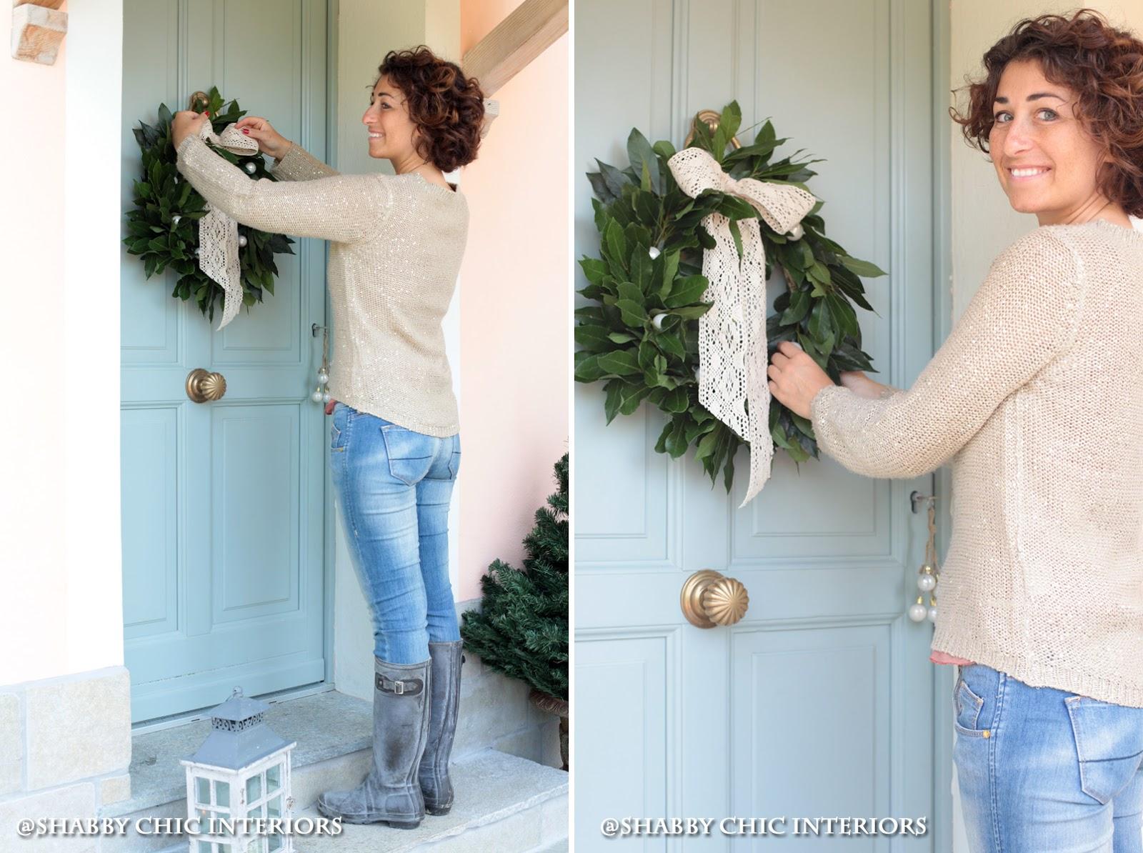 Tutorial ghirlanda di Natale - Shabby Chic Interiors