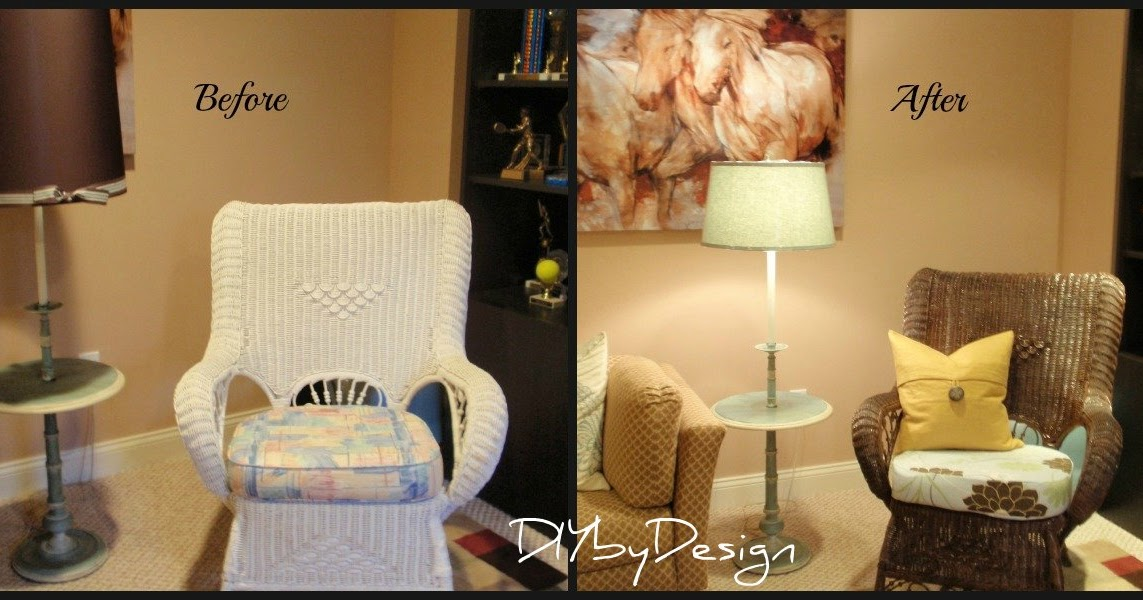 Diy By Design Wicker Chair Makeover