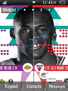Sports NBA Kobe and Jordan 2013 Samsung Corby 2 Theme Wallpaper