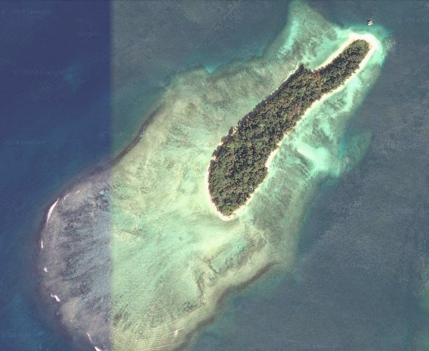 Satellite view of Jolly Buoy Island
