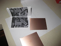 Double sided toner transfer using folded image