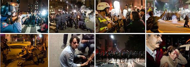 ação truculenta da PM de Alckmin no protesto pela passagem de metrô e bus em SP passe livre