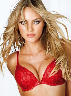 Hot Candice Swanepoel In Spicy Red, Black, White and Pink Bikini