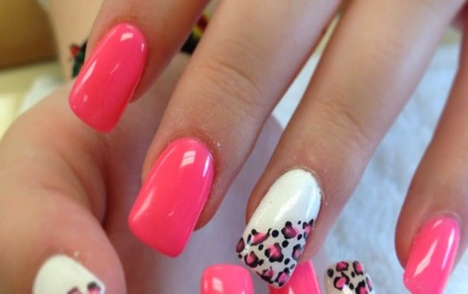 Summer acrylic nail designs hot nails designs on pinterest lovely pink nails art prinsesfo Gallery