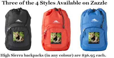"High Sierra Backpack ""Proud of Saving Animals (Not Killing Them) Designed by RoseWrites (shown in 3 popular colours)"