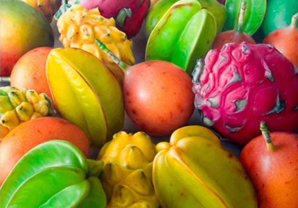 Pintura Oleo  Bodeg  N Con Frutas Tropicales