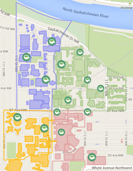 Coffee Map @ UAlberta