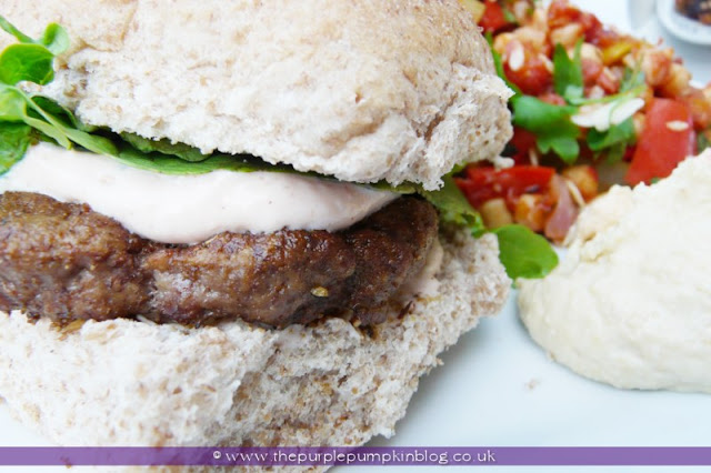 Spice Rubbed Moroccan Lamb Burgers at The Purple Pumpkin Blog