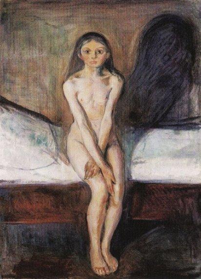 Pubertad (1894), de Edvard Munch