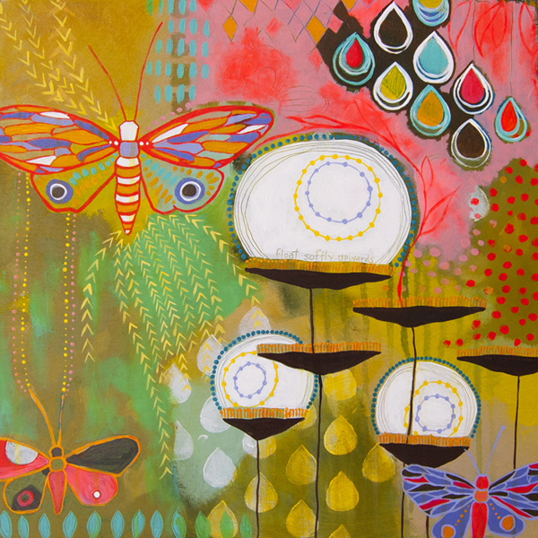 Abstract Nature Intuitive painting by Jessica Swift