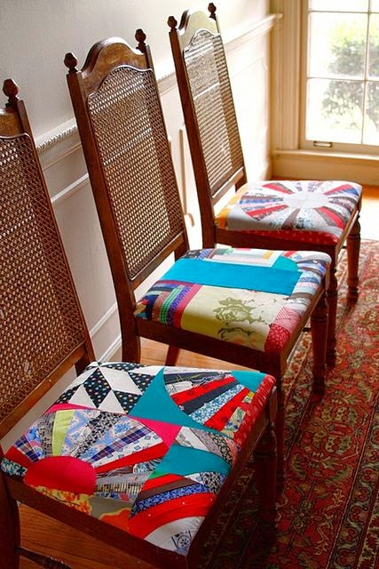 Selvage blog patchwork dining room chairs for Q significa dining room