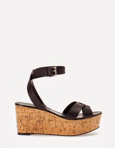 Sandalias de plataforma de corcho de STRADIVARIUS