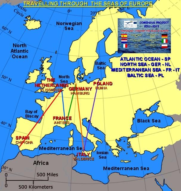 map of seas in europe