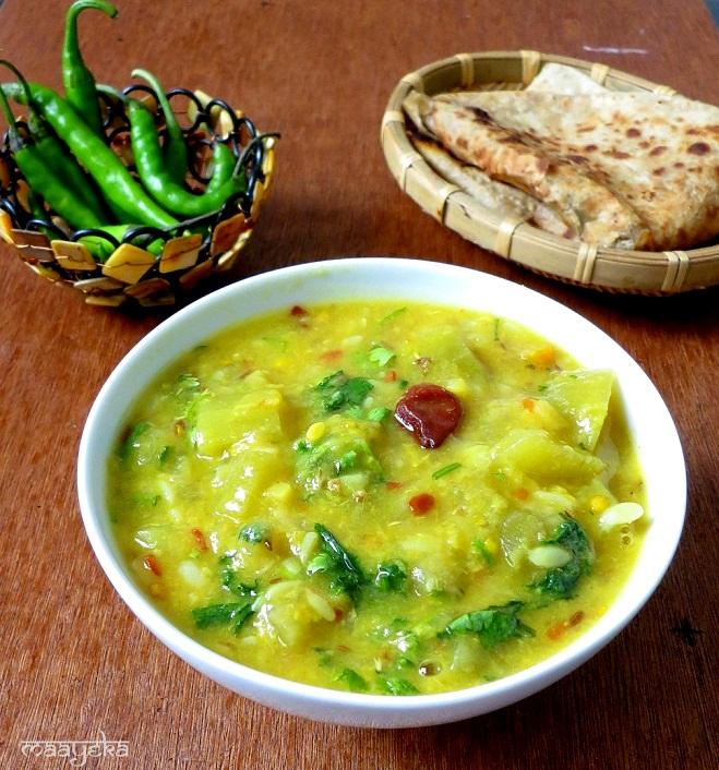 Lauki Moong Daal Ki Subzi | Maayeka - Authentic Indian Vegetarian ...