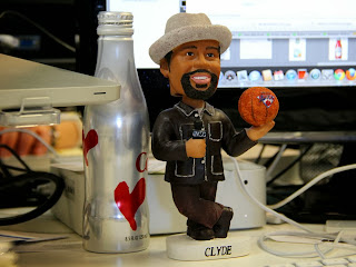 Office Bobblehead Clyde Frazier Knicks