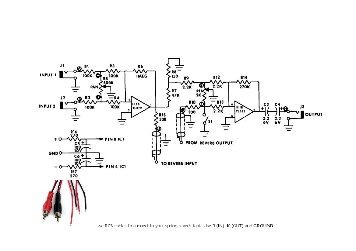Synthwizards Envelope Follower Schematic 4712 Spring Reverb