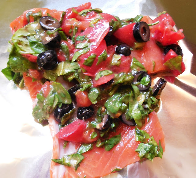 Grilled Tuscan Salmon
