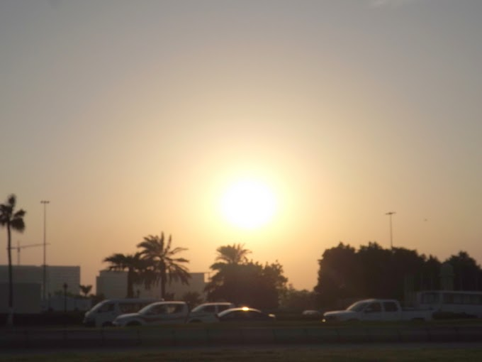 Doha sunset night falls