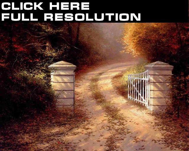 Thomas Kinkade Autumn Gate1