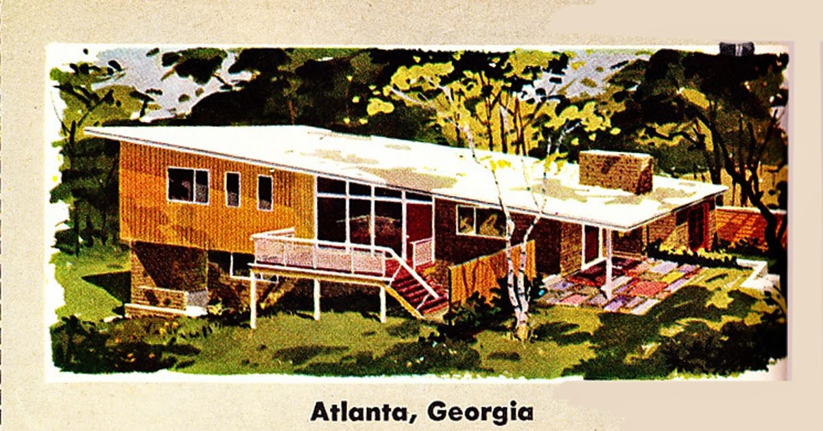 Retro Rockets Parade Of 1956 Home Plans 12 Atlanta Ga