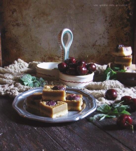 brown butter cherry basil bars :: une gamine dans la cuisine