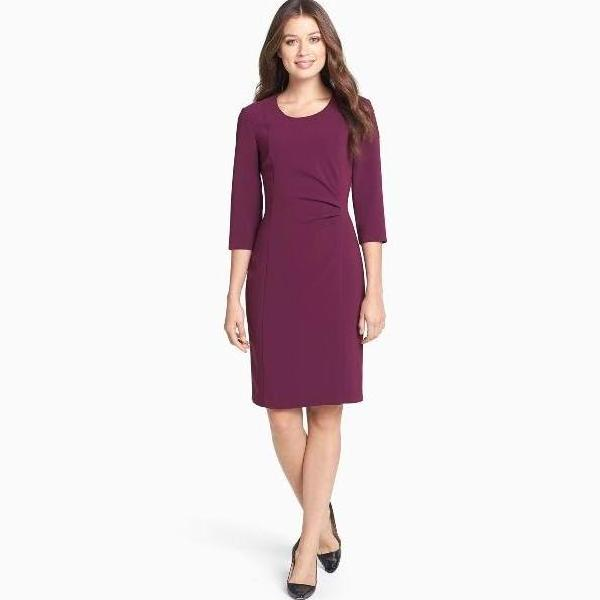 Boss by Hugo Boss Purple Daperlina Sheath Dress