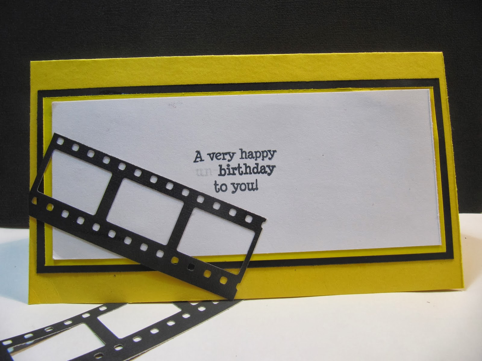 Sunshine creations and crafts birthday card movie themed shes currently attending film school so i wanted to make her a card with that theme in mind if youd like to see how i made this go to youtube bookmarktalkfo Choice Image