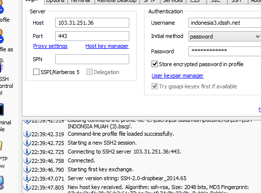 Free SSH Server Indonesia Support UDP 30 Oktober 2014