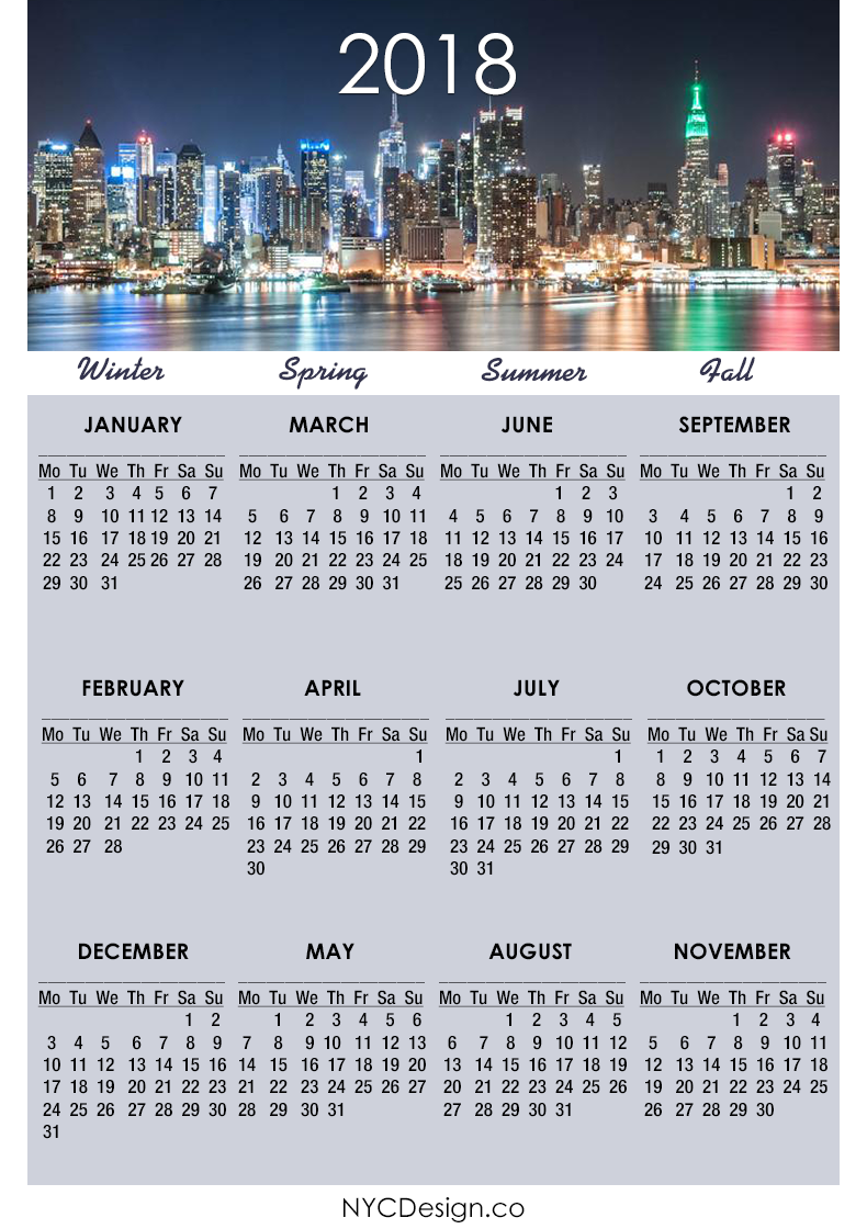 Calendar New York April : New york web design studio ny calendar