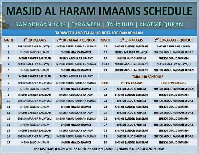 Solat Terawih 2015 Di Masjidil Haram Mekah