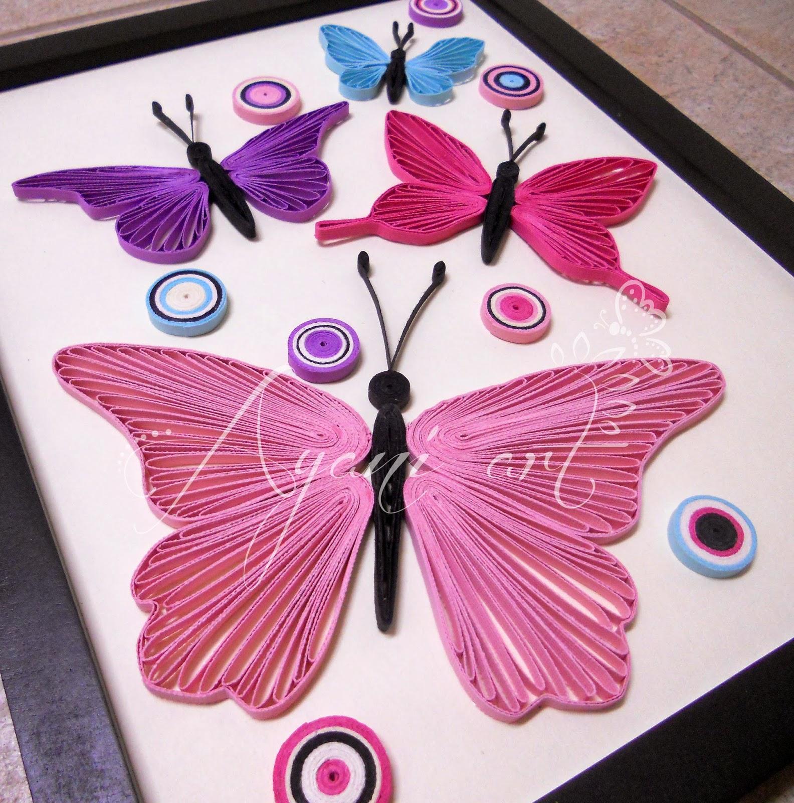Квиллинг открытки бабочка 60