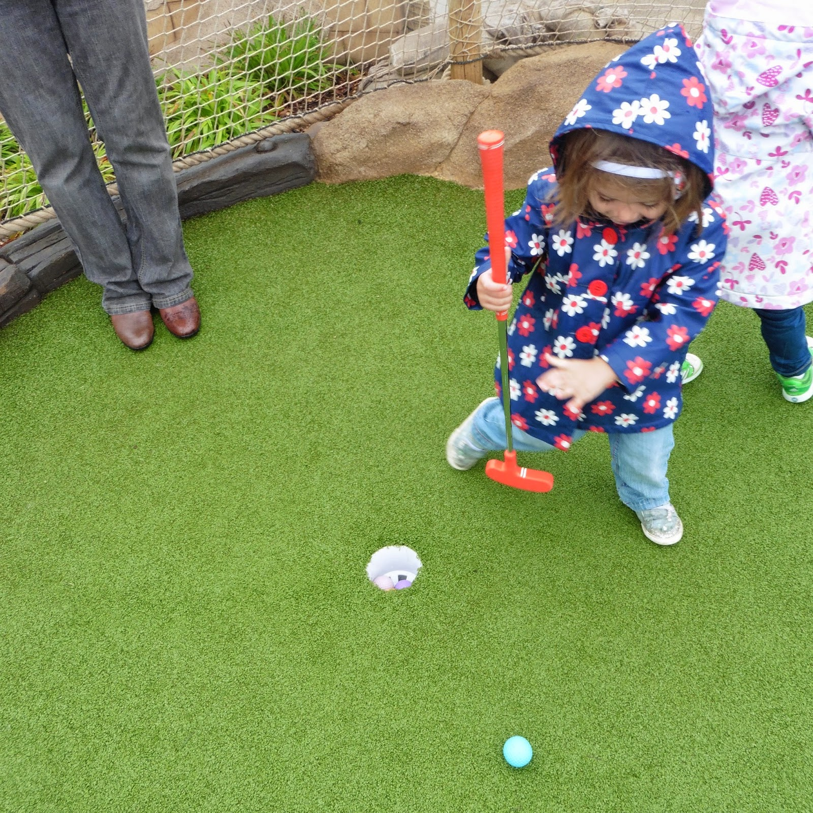 Youngest playing golf