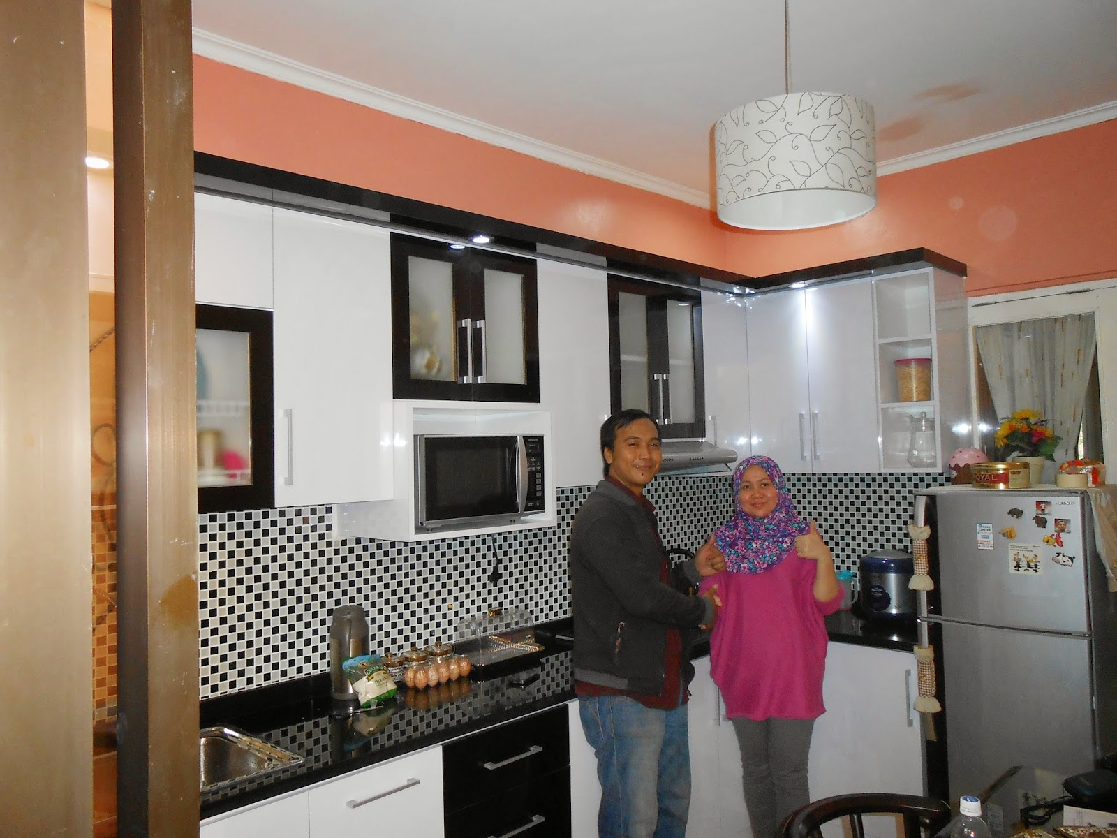 Berlian kitchen set minimalis murah kitchen set cikarang for Kitchen minimalis