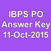 IBPS PO Exam Answer Key 2015