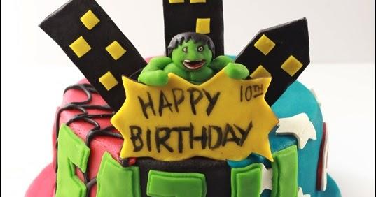 Hulk Cake Decorating