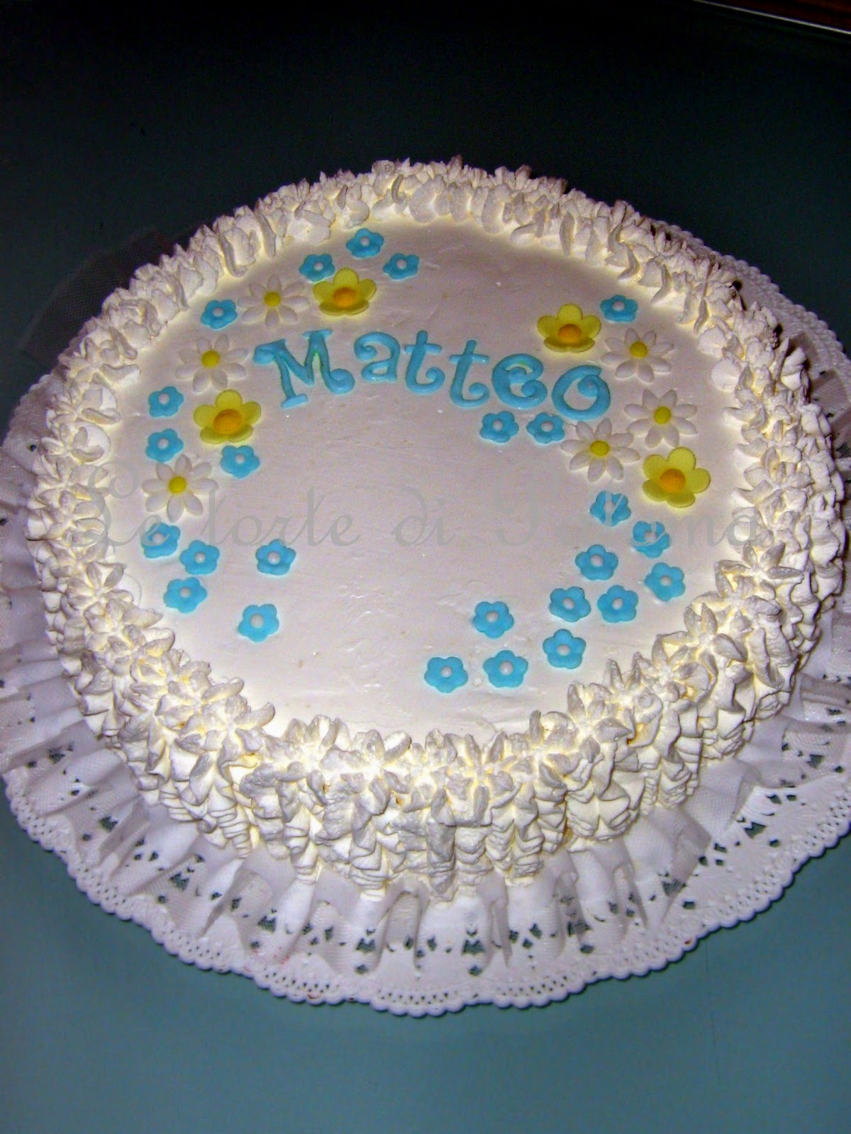 Très Le Torte di Paloma: Torta in panna per Battesimo bimbo GT92