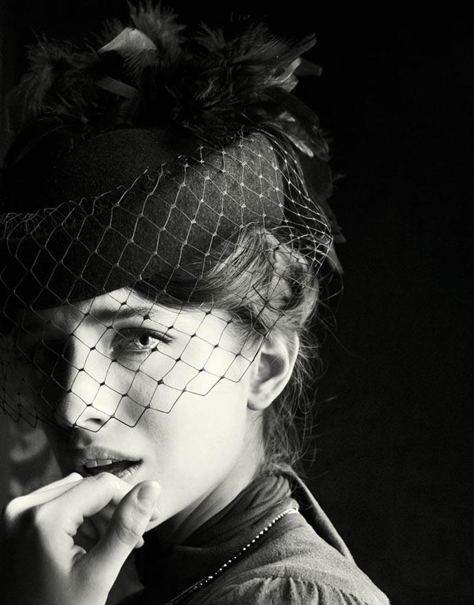 Fashion photo shoot inspired by Anna Karenina for Sobaka.ru Magazine. Photographer Nikolay Biryukov, stylist Gala Bozkova, starring Anna Chipovskaya and Tomofey Kolesnikov