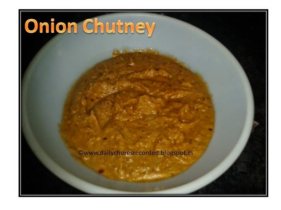onion chutney onion chutney is today s recipe there are really many ...